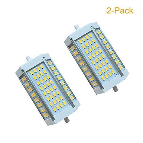 JUMRO R7S LED Lampe 118Mm 25W Dimmable Double Ended J118 Glühbirne, Äquivalent Zu 200W, Ersatz Für Traditionelle Halogenlampe & Sicherheitsscheinwerfer (2-Stück),Warmwhite3000k,220~240V