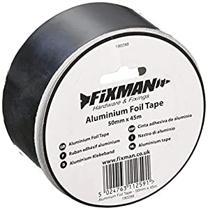 Fixman 190288 Ruban adhésif Aluminium, Argent, 50 mm x 45 m