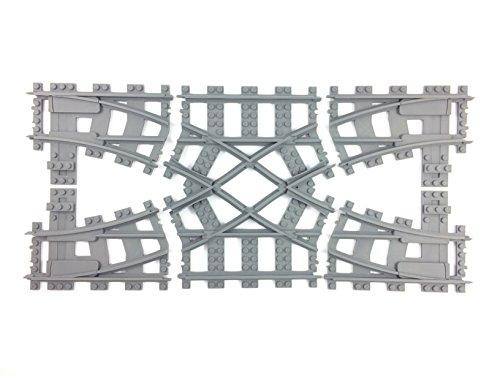 Trixbrix Doppel Crossover R40, kompatibel mit Lego Zug, in 3D gedruckt