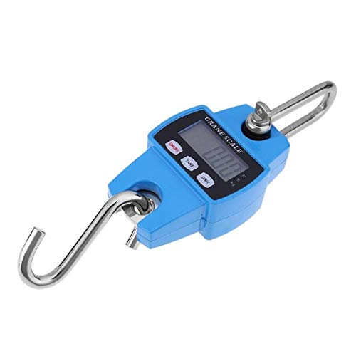 Tiantian 300kg Mini Crane Scale Portable LCD Digital Electronic Hanging Hook Scale Heavy DutyWeight Tool,B