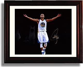 Framed Stephen Curry Spotlight Autograph Replica Print - Golden State Warriors