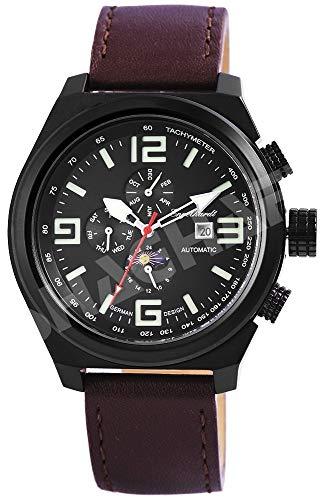 Engelhardt Herren Analog Mechanik Uhr mit Leder Armband 389571029003