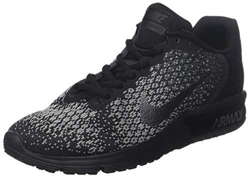 Nike Air MAX Sequent 2, Zapatillas de Entrenamiento para Hombre, Negro (Black/Metallic Hematite-Dark Grey-Wolf Grey 001), 46 EU