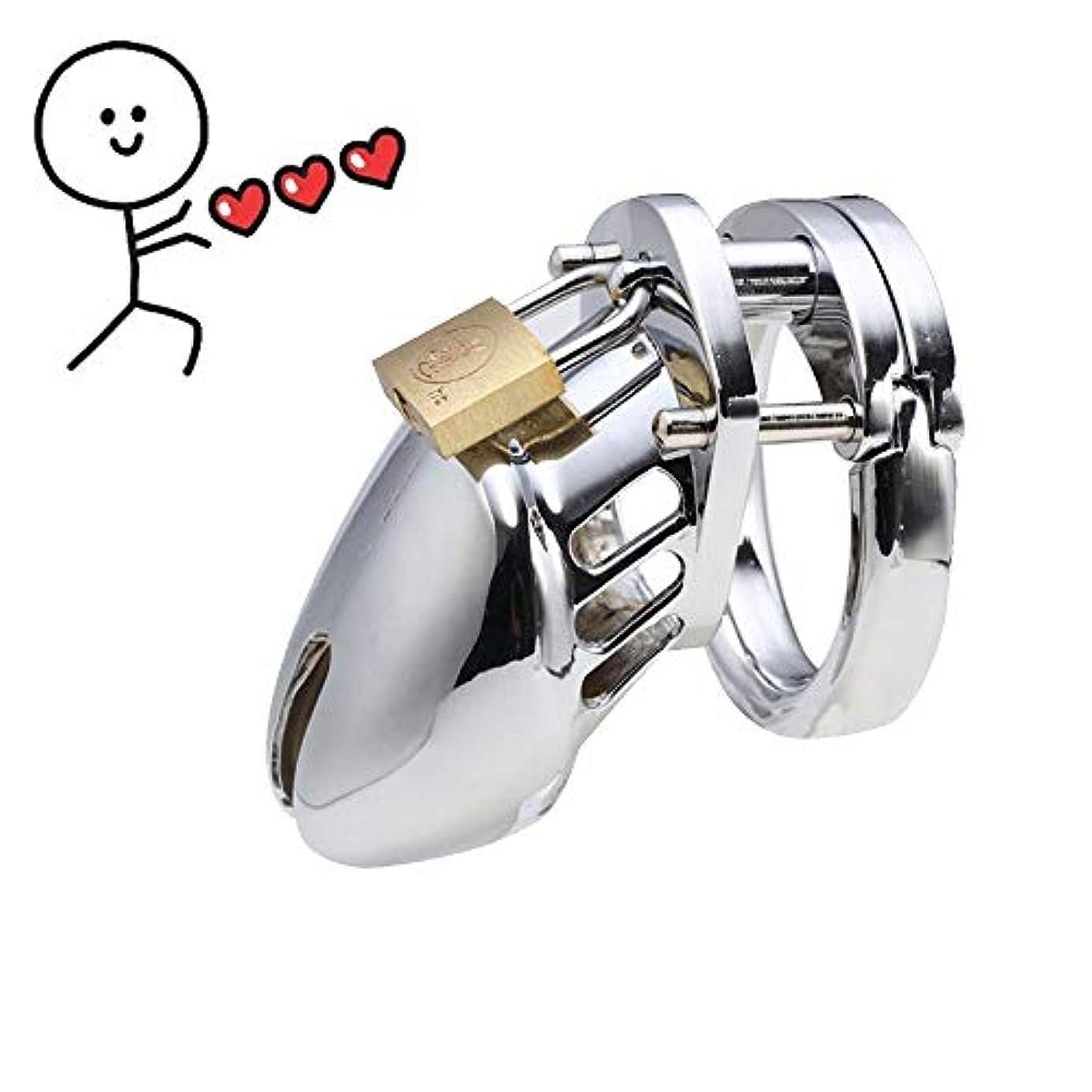 LANYHU Male Protective B?ň-d-a-gê W?Mên Device Stainless Steel D=S-M B-?-ň-dàgé Suitable for Men(40mm) spe5213558