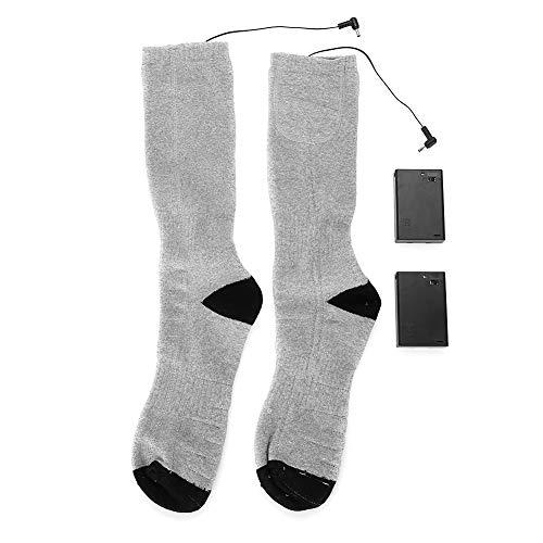 TMISHION Beheizbare Socken für Männer und Frauen, Fußwärmer Baumwolle Socken, ideale Wintergeschenke für Camping & Outdoor Kälteschutz Thermische, Sportsocken bei kaltem Wetter
