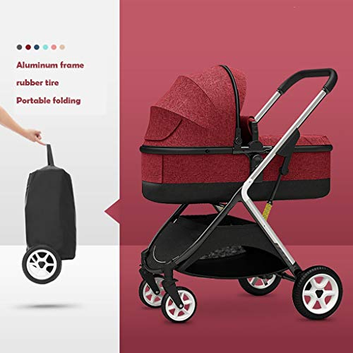 Best Price YRSTC Baby Stroller, Convertible Reclining Stroller, Foldable and Portable Pram Carriage ...