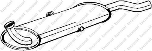 Preisvergleich Produktbild Bosal 105-933 Endschalldämpfer