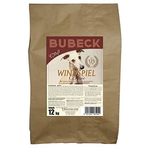 seit 1893 Bubeck Trockenfutter getreidefrei | Vollnahrung für Windhunde | mit Truthahn & Reismehl | gebackenes Hundetrockenfutter