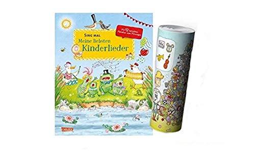 Buchspielbox Sing mal: Meine liebsten Kinderlieder (Hardcover) + Musik Instrumente Wimmel-Poster von Collectix