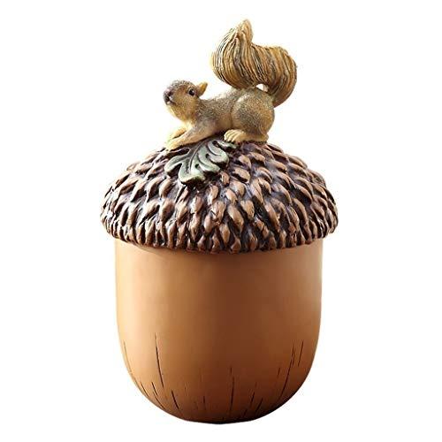 jinyi2016SHOP Cubo de Basura Estilismo de Animales con Personalidad Creativa Personalidad con Tapa Bote de Basura de Escritorio Sala de Estar Estudio Hogar Bote de Basura Papeleras (Size : S)