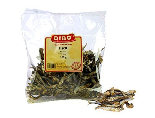 DIBO Fisch, 200g-Beutel, der kleine Snack oder Leckerli für Zwischendurch, Reich an Omega-3 Fettsäuren, Hundefutter