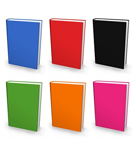 Book Sox Stretchable Book Cover: Jumbo 6 Print Value Pack. Fits Most Hardcover Textbooks up to 9 x 11. Adhesive-Free, Nylon Fabric School Book Protector Easy to Put On Jacket wash Re-use (Solid)