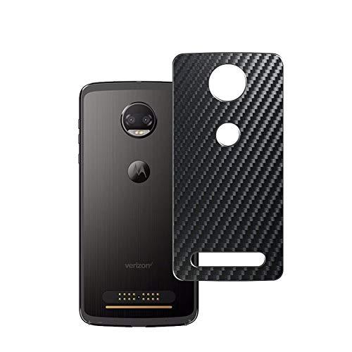 Vaxson 2 Unidades Protector de pantalla Posterior, compatible con Motorola Moto Z2 Force, Película Protectora Espalda Skin Cover - Fibra de Carbono Negro