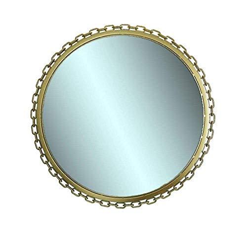 Pursue Cuarto de baño Muebles Decorativos Espejo de baño Ronda de Hierro labrado Mirado de Pared 50/60 / 70cm Dormitorio Dormitorio Decorativo Mirro (Size : 60cm)