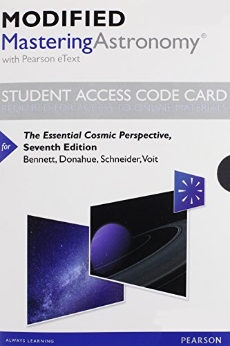 Price comparison product image Modified MasteringAstronomy with Pearson eText -- Standalone Access Card -- for The Essential Cosmic Perspective (7th Edition)