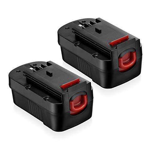 FirstPower 2Pack 3.7Ah HPB18 Battery- Compatible with Black & Decker 18V Cordless Power Tools - HPB18 HPB18-OPE 244760-00 A1718 FS18FL FSB18 Firestorm