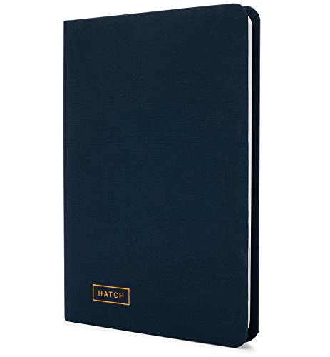 "Hatch Notebook - Idea Journal, Project Planner & Brainstorming Notebook for Entrepreneurs, Project Managers, & Business Owners - Midnight Blue - Hardcover, 160 Pages, 5.75"" x 8.25"""