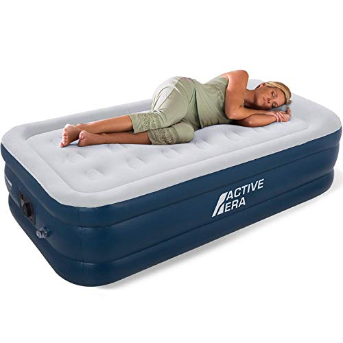 Active Era Air Bed - Premium Single Size AirBed with a Built-in Electric Pump and Pillow