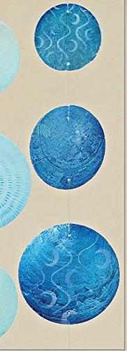 Bloominghome Capiz-Girlande Perlmutt blau Gemustert 180 cm Windspiel