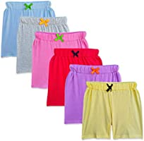 SOUTH SAILOR Girls Cotton Shorts (Multicolor_2 to 16 Years) Pack of 6