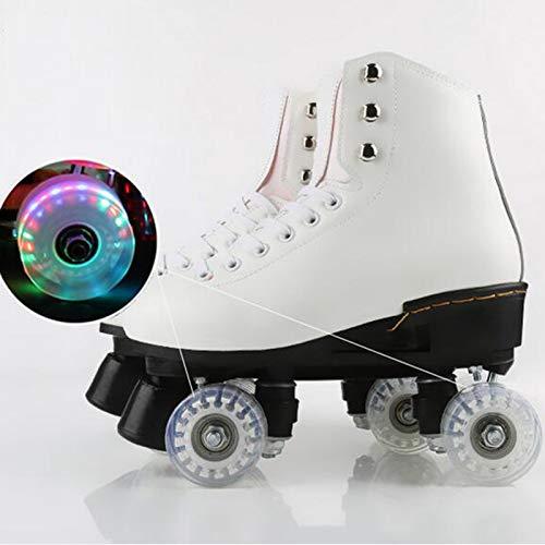 Patines De 4 Ruedas Ajustables, Paralelo Quad Skate Patines, para Patinaje Niñas Y Niños flashing-38