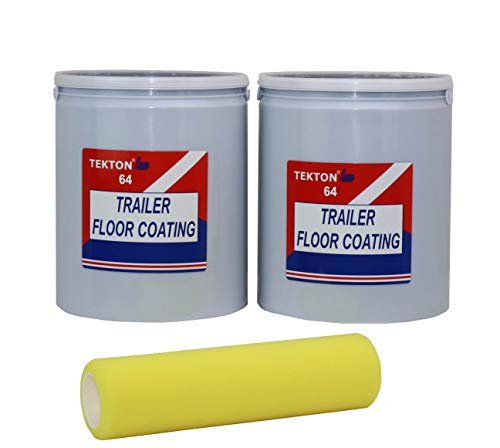 Trailer Floor Coating Protects Trailer Floors, Ramps and Walls (Grey, 2 gallons) Includes 1 Foam Cover
