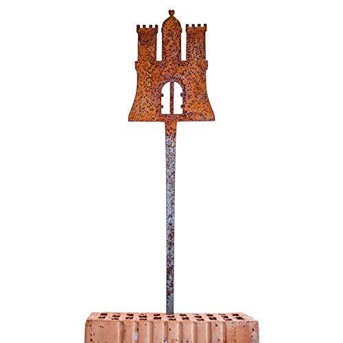 Galionsfigur HamBurg (Variante L) | Designer Gartenstecker Edelrost - Deko, Hamburg Souvenir, Mitbringsel, Gastgeschenk, Wappen, Made in Germany
