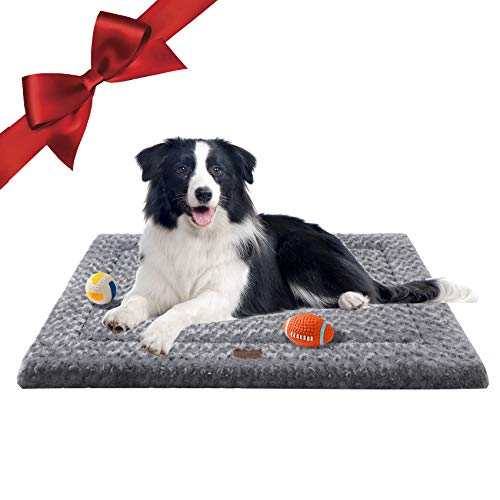 Western Home Dog Crate Bed for Small Medium Large & Extra Large Dogs/Cats Up to 50/75/100 lbs, Calming Dog Beds for Sleeping & Anti-Anxiety Pet Beds, Waterproof Bottom and Anti-Slip Thin Dog Pad