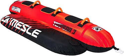 MESLE Tube Torpedo 2, 3, 4 Personen, Towable Banana-Boat, 840 D Nylon, aufblasbar, für Kinder & Erwachsene, Wasser-Sport Fun-Tube, Bananen-Boot, Wassergleiter, incl. Reparaturset, Personenanzahl:3P