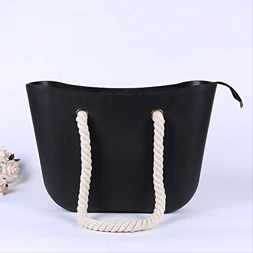 Europäische und amerikanische Badestasche heiße Handtasche weibliche Handtasche wasserdichtes Silikonmaterial Strandtasche große Kapazität Aufbewahrungstasche Umhängetasche 46 * 30 * 11cm