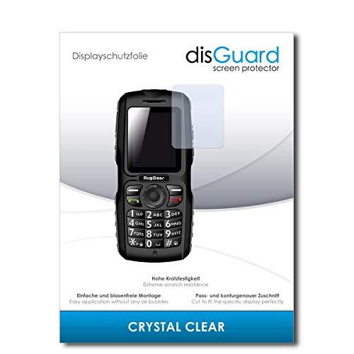 disGuard® Bildschirmschutzfolie [Crystal Clear] kompatibel mit Ruggear RG100 [2 Stück] Kristallklar, Transparent, Unsichtbar, Extrem Kratzfest, Anti-Fingerabdruck - Panzerglas Folie, Schutzfolie
