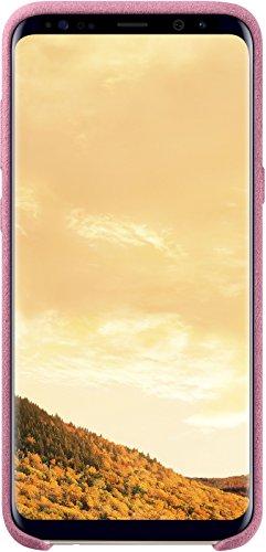 Samsung EF-XG955ASEGWW Original Coque Alcantara pour Samsung Galaxy S8 Plus - Rose