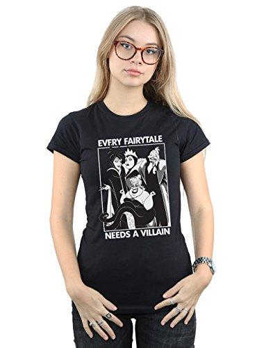Disney Mujer Every Fairy Tale Needs A Villain Camiseta Negro Small
