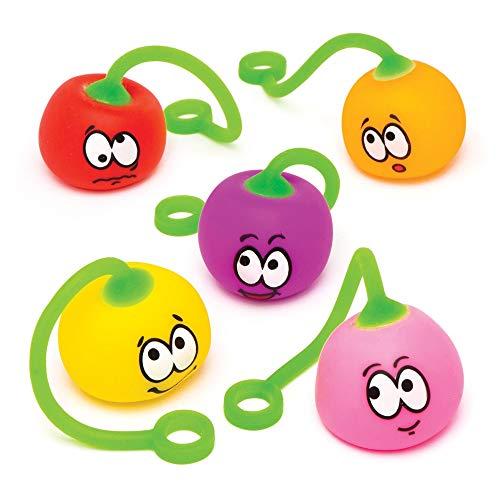 """Baker Ross Schwingbälle """"Lustige Gesichter"""" (6 Stück) – Stretch Spielzeug als kleine Partyüberraschung und Geschenk für Kinder"""