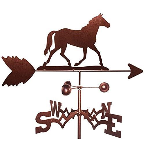 WSZMD Tiempo Vane-Oil Pouch Drilling Rig Metal Forjado Hierro Techo Jardín Decoración del Hogar Vane, Horse