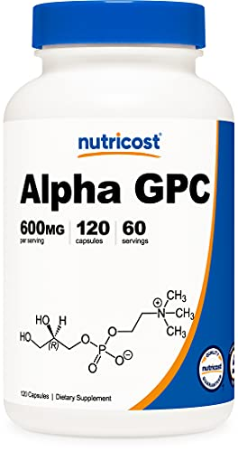 Nutricost Alpha GPC 300mg, 120 Vegetarian Capsules - Non-GMO and Gluten Free, 600mg per Serving