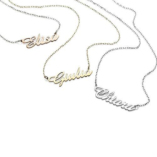 Collana in oro 18 kt con nome personalizzabile mini