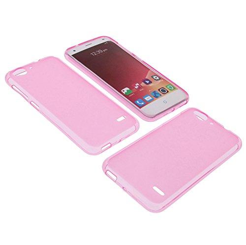 foto-kontor Tasche für ZTE Blade S6 Gummi TPU Schutz Hülle Handytasche pink