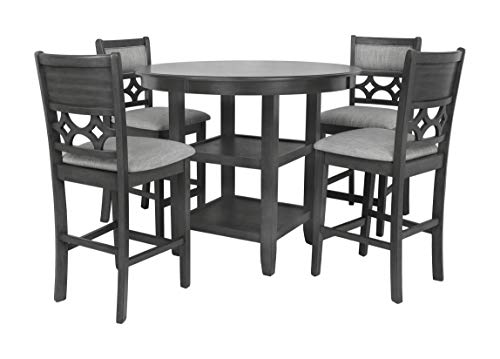 New Classic FURNITURE Mitchell Counter Set, Gray