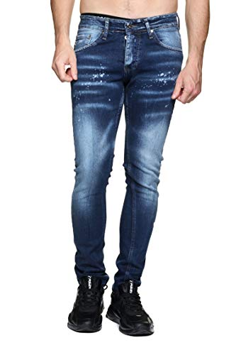 Redskins Steed Graph Jeans, St Used Destroy, 38 Homme