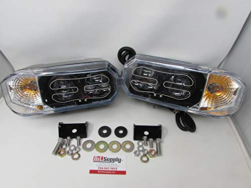 Great Features Of R&L SUPPLY Universal LED Snowplow Headlights - Meyer Western Fisher HINIKER SNOWDO...