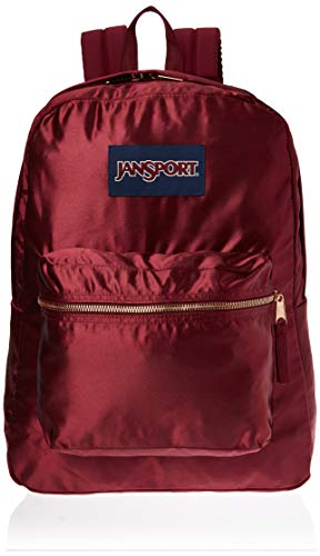 JanSport JS0A3C4W50C High Stakes Rucksack, Russet Red/Rose Gold