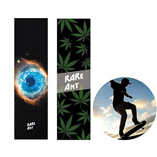 Schneespitze 83x23cm Skateboard rutschfest Griptape,Selbstklebend Aufkleber rutschfest Skateboard Grip Band Blatt Sandpapier,für Skateboard oder Longboard,2Pcs