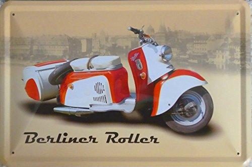 vielesguenstig-2013 Blechschild Schild 20x30cm - Berliner Roller SR59 Simson Roller DDR Mofa