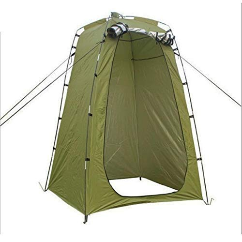 NLRHH Pop-up Tent Lightweight Portable Camping Shower Tent Awning Canvas Folding Outdoor Toilet Room for Privacy Showing Changing Clothes peng (Color : Army Green)