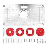KKmoon Piastra da tavolo per fresatrice Piastra per Fresatrice, Precisione Alluminio