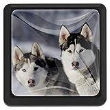 Adorables perros esquimales Mango de 3 cajones para armario Armarios...