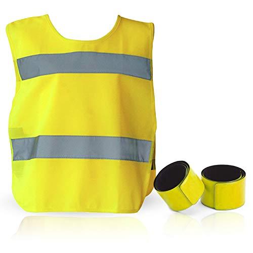 TN Sport Premium Kinderwarnweste 3-12 Jahre - Kinder Poncho Warnwesten, Reflektor Weste stark Sichtbar, Sicherheitsweste Warnwesten Kinder ISO Zertifiziert (3 bis 6 Jahre, 1er Pack)