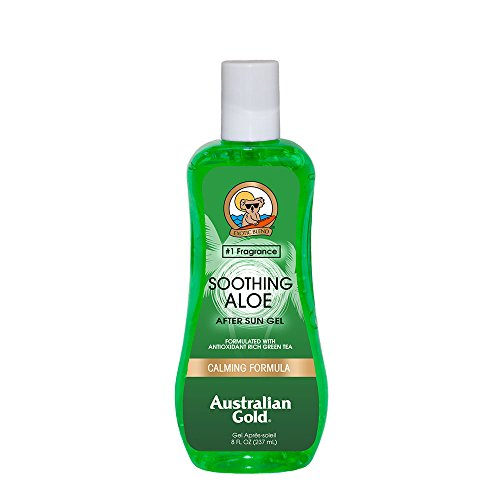 Australian Gold Soothing Aloe Vera After Sun Gel, 8 Ounce (Pack of 6) | Natural Sunburn Pain Relief | Relieves Hot & Itchy Skin