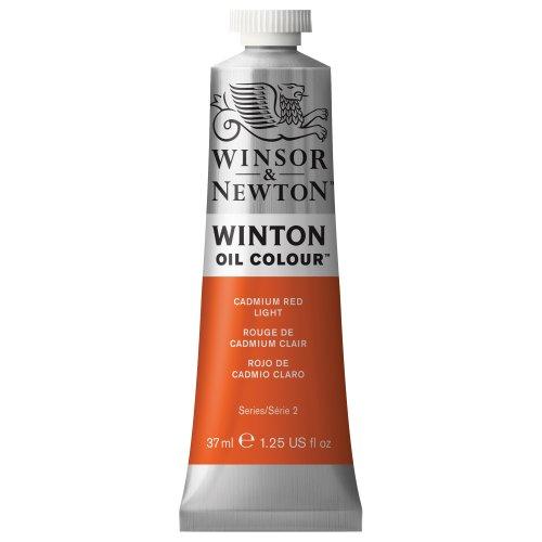 Winsor & Newton 1414100 Winton Oil Color Paint, 37-ml Tube, Cadmium Red Light